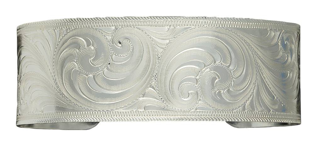 Montana Silversmiths Silver-Tone Classic Engraved Cuff Bracelet
