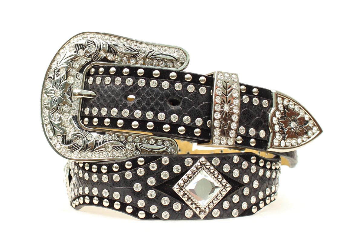 Nocona Scallop Diamond Concho Belt