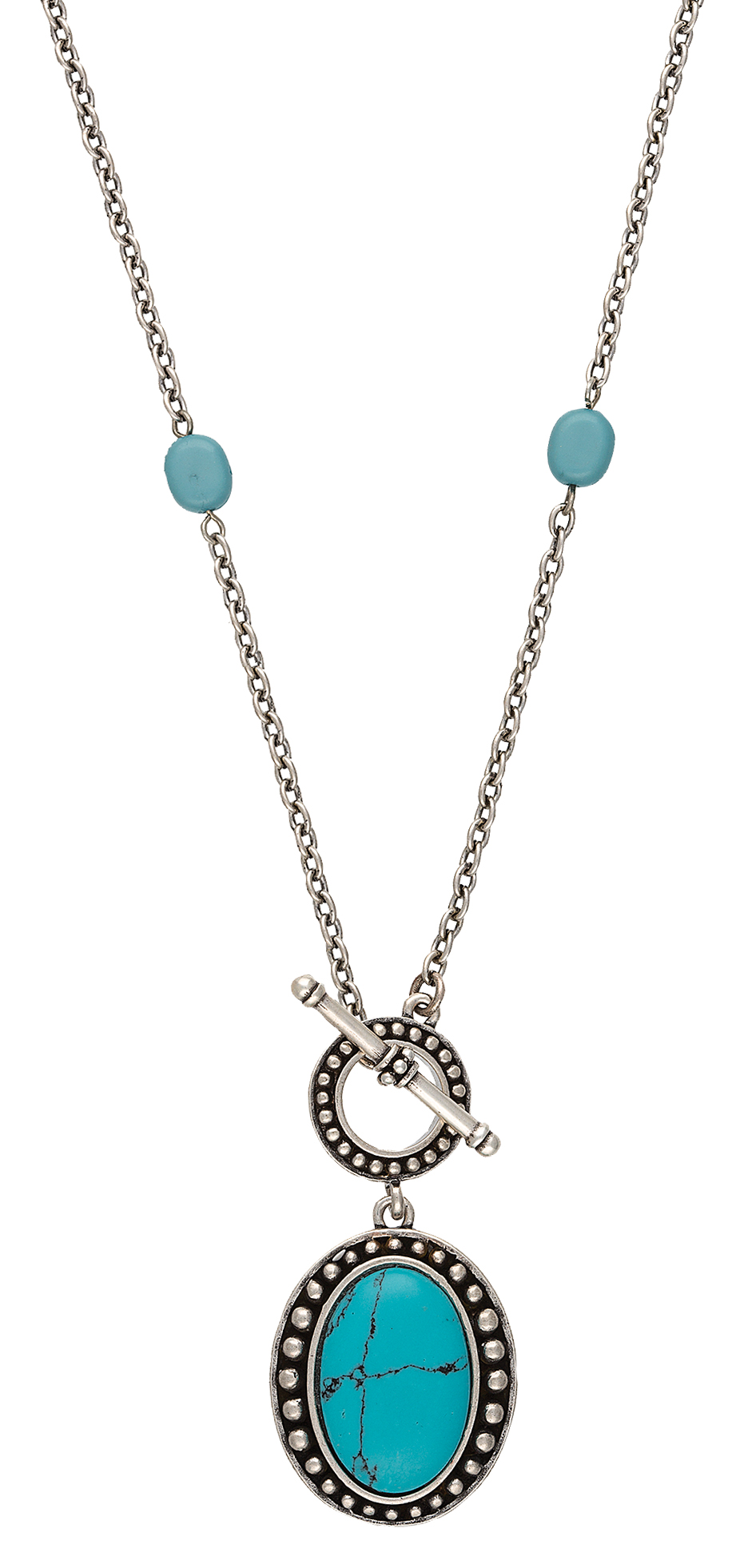 Rock 47 Rocks and Roll Stone Lariat Necklace