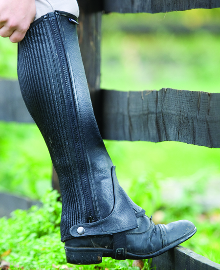 Shires Childs Leather Half Chaps