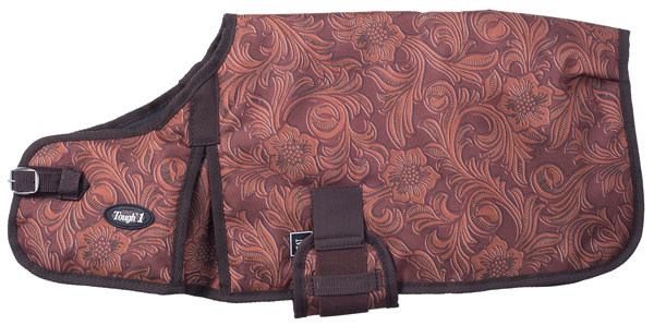 Tough-1 600D Tooled Leather Print Dog Blanket