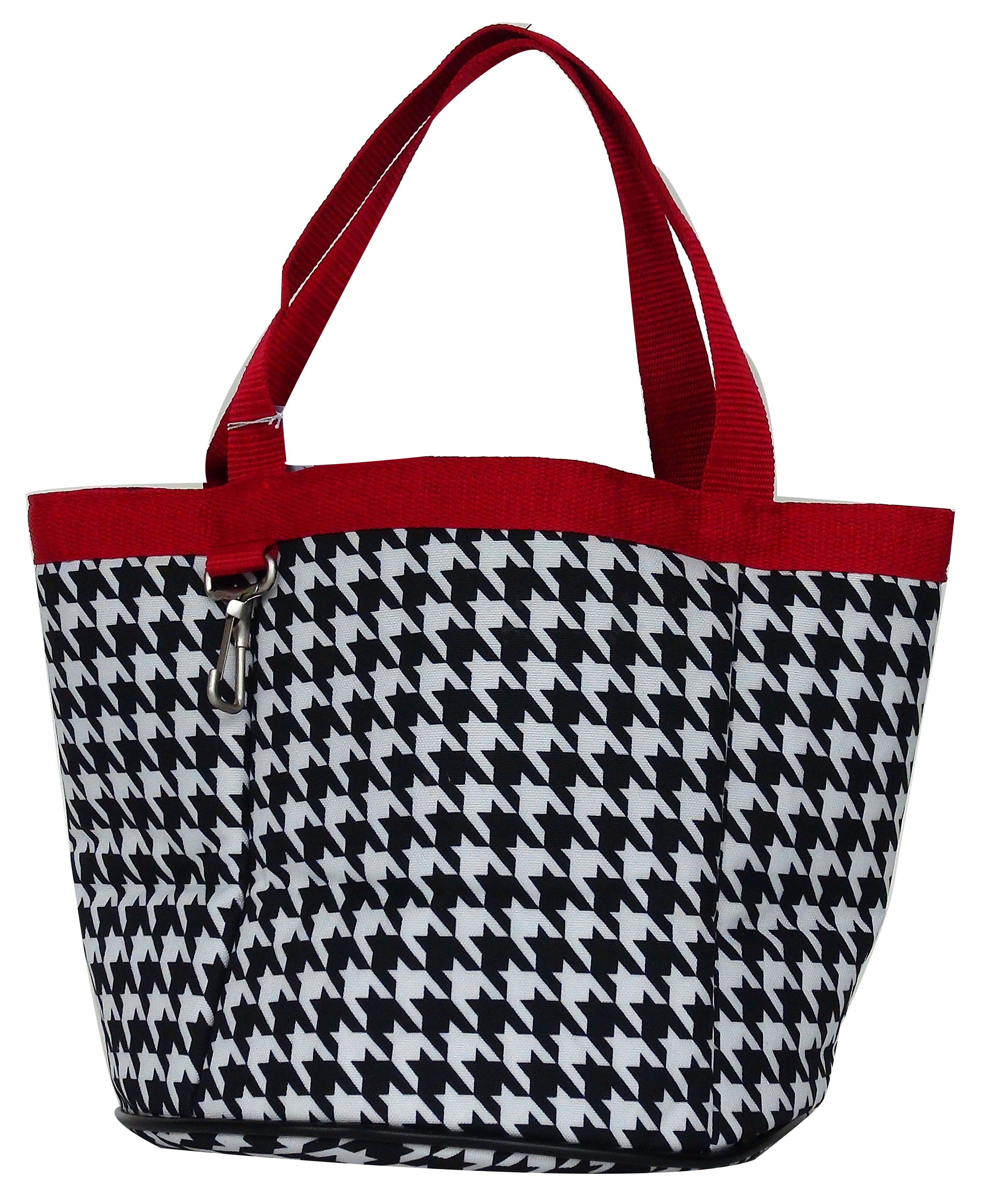Lami-Cell Houndstooth Stable Tote - Small