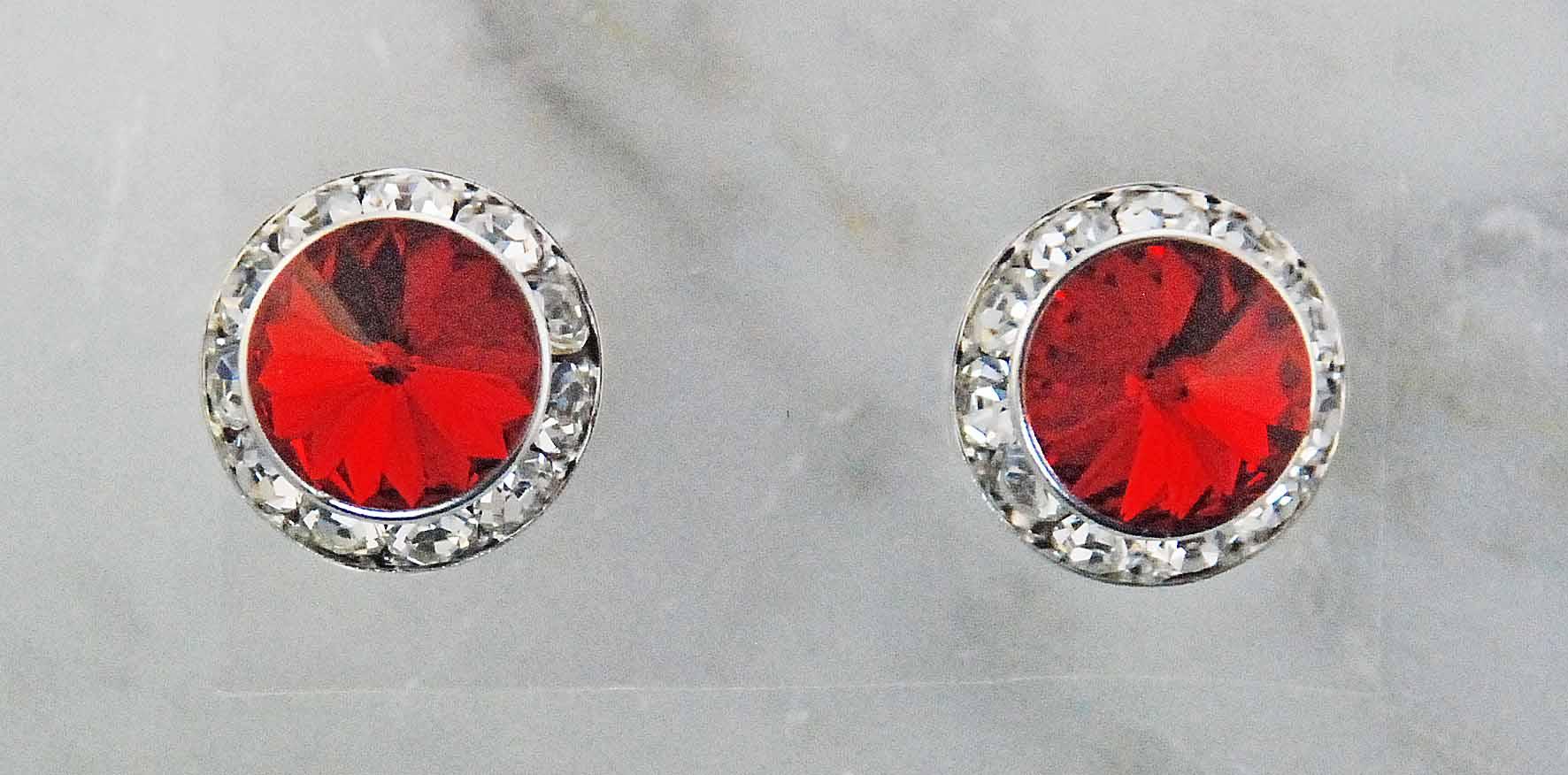 Finishing Touch Rivoli Stone Crystal/Frame Earrings