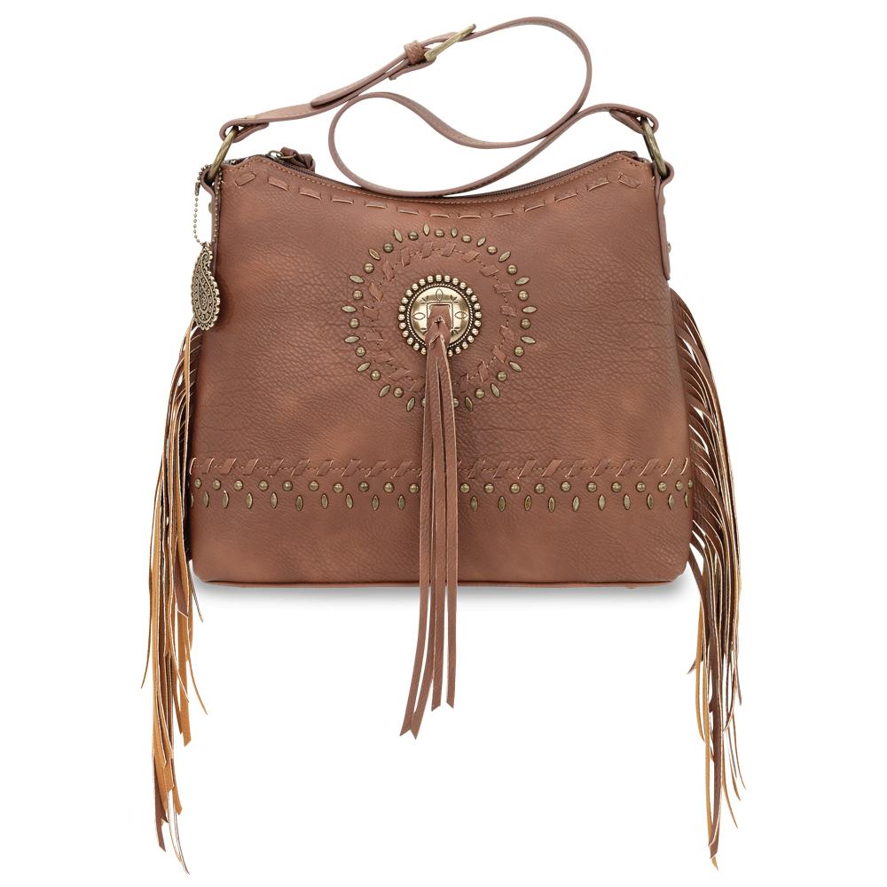Bandana Sioux Zip Top Shoulder Bag
