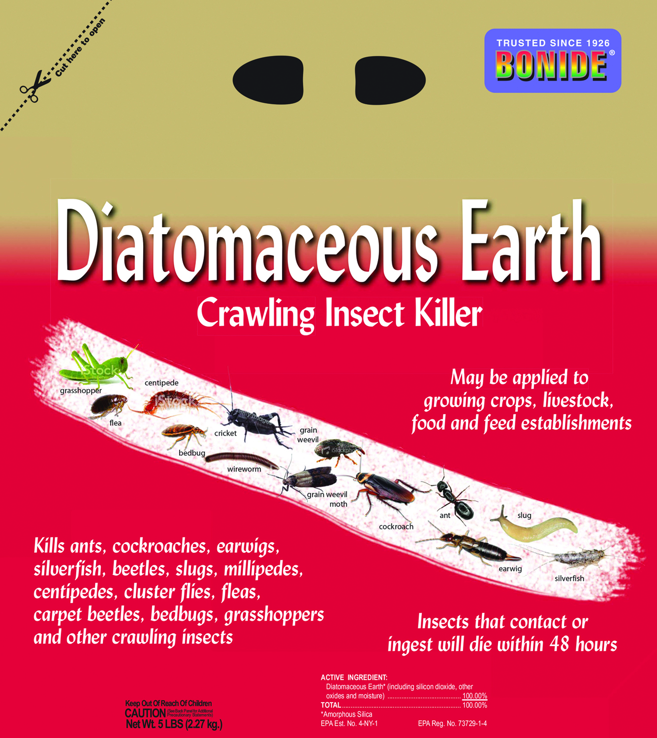 Diatomaceous Earth Crawling Insect Killer 5 Lbs Dealtrend