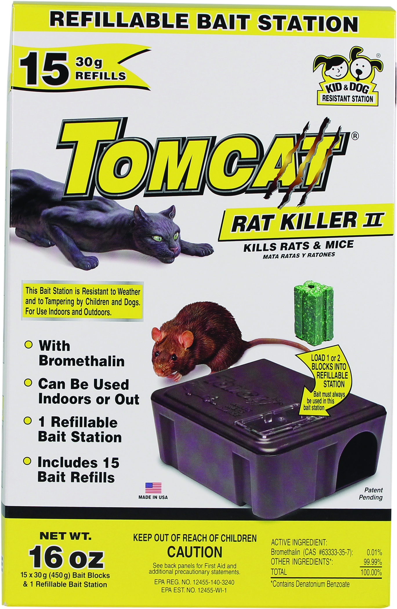 Tomcat Rat Killer II Refillable Bait Station