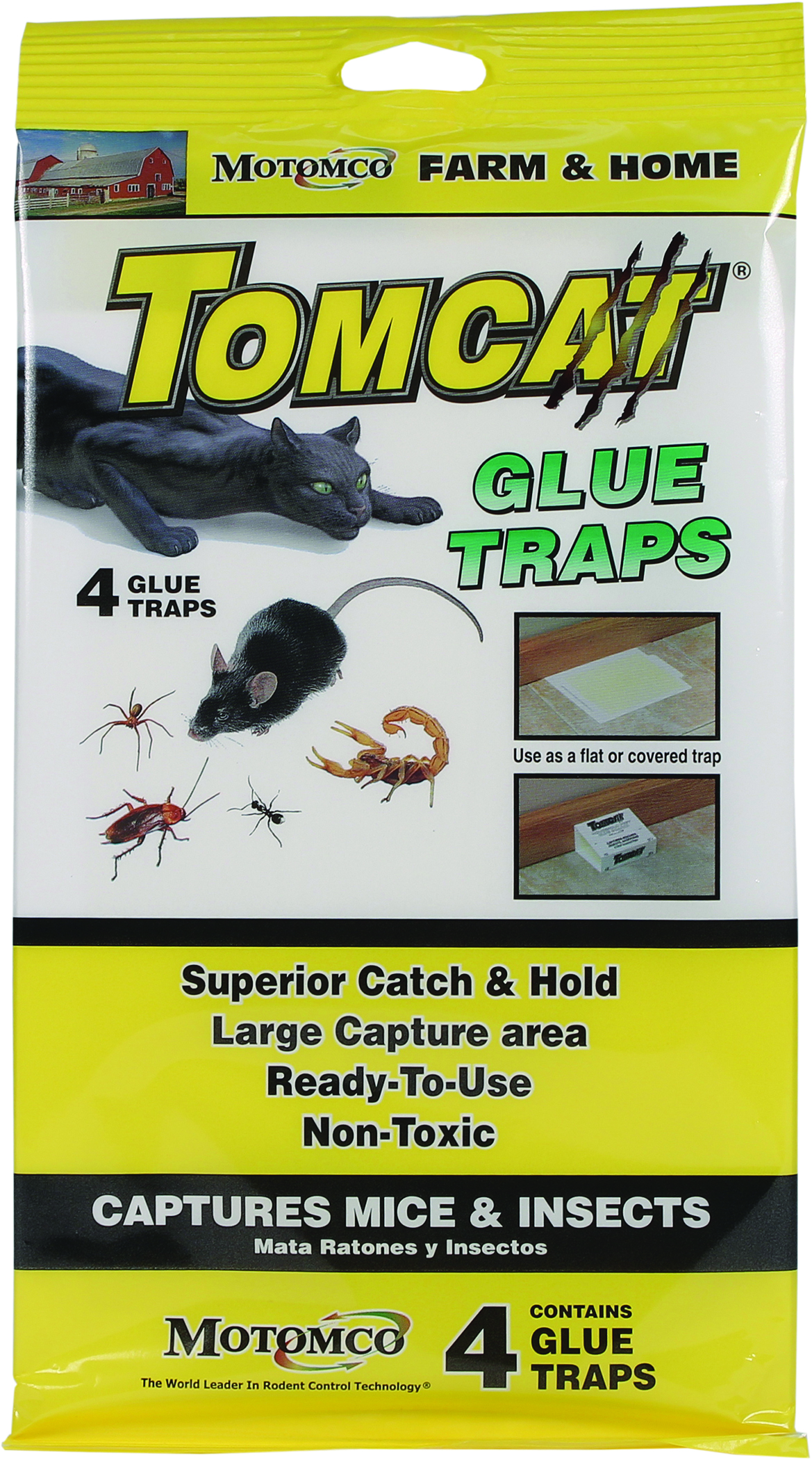 Tomcat Glue Traps For Mice And Insects