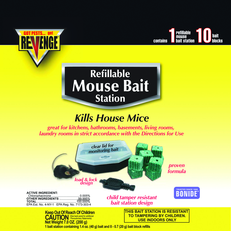 Revenge Mouse Bait Station Refillable