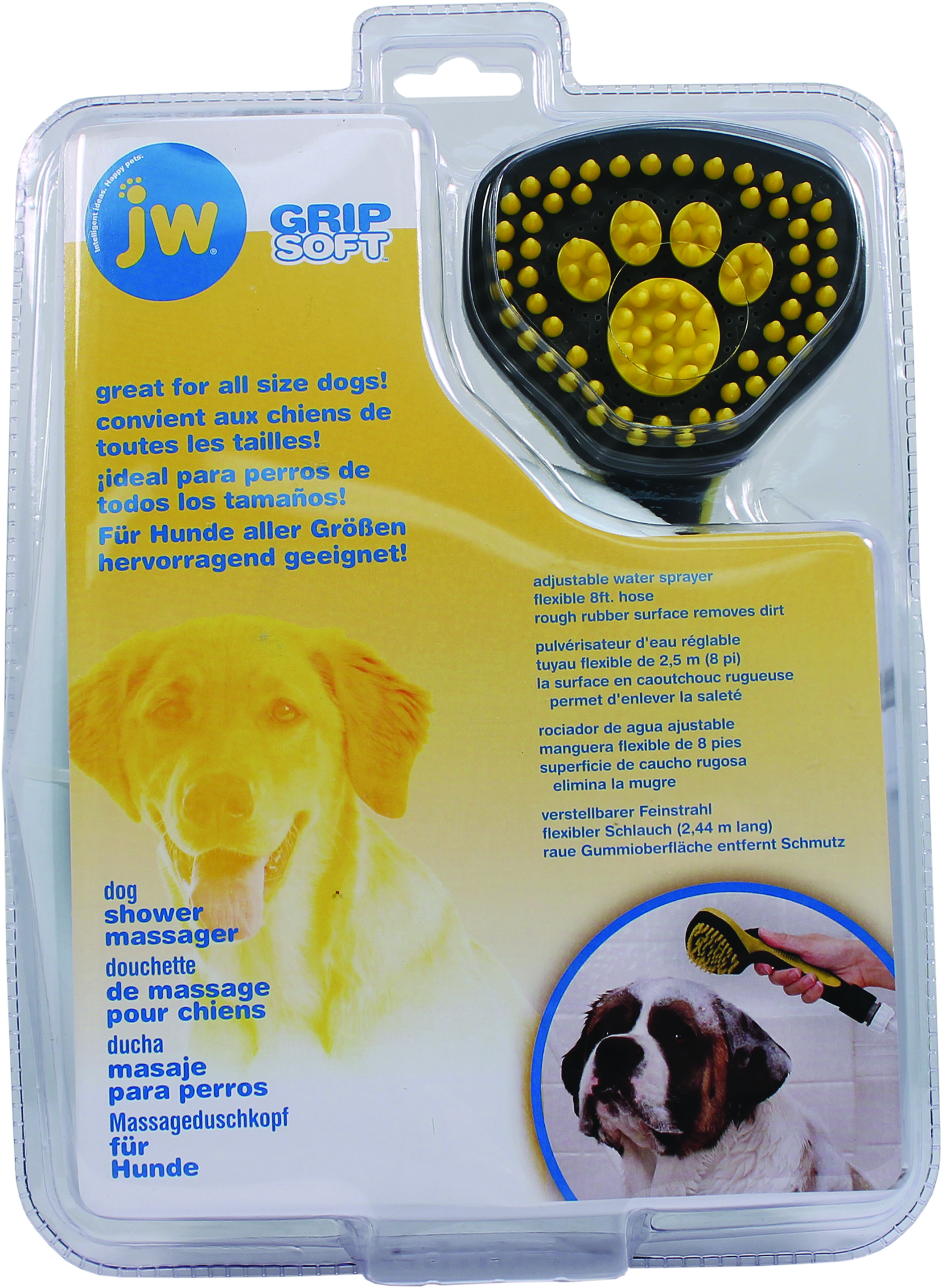 JW Grip Soft Pet Shower Massager