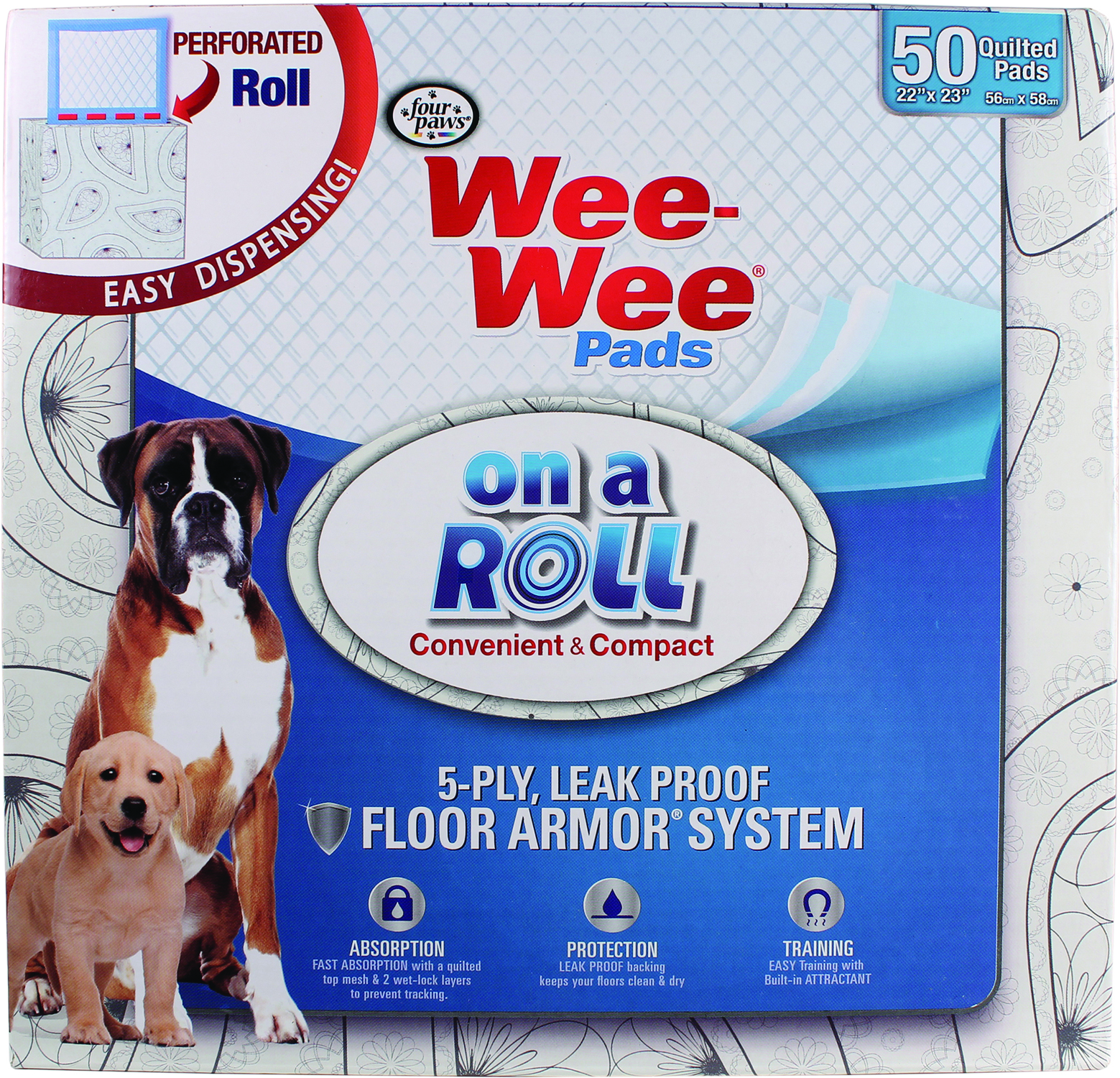FOUR PAWS Wee-Wee Pads On A Roll Pop-Up Dispenser