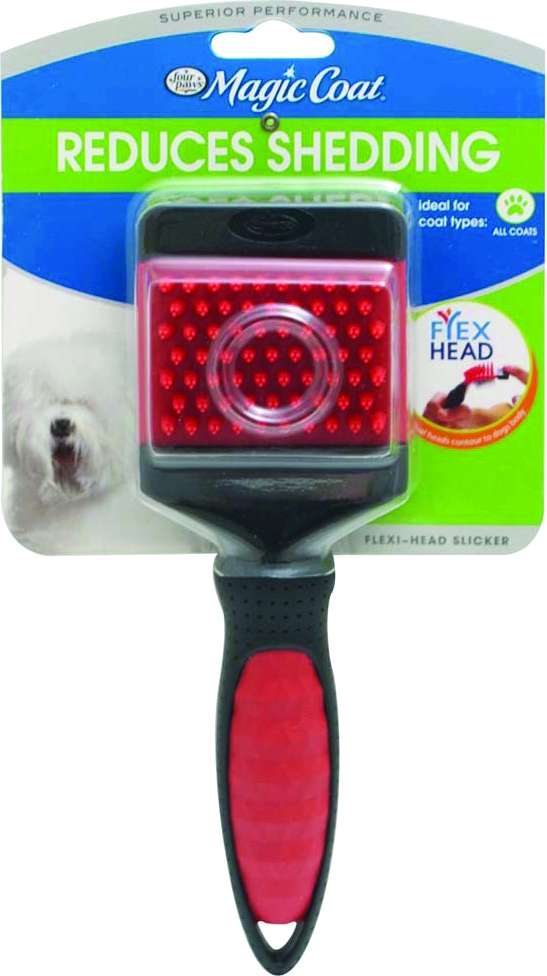FOUR PAWS Magic Coat Flexihead Slicker With Curry