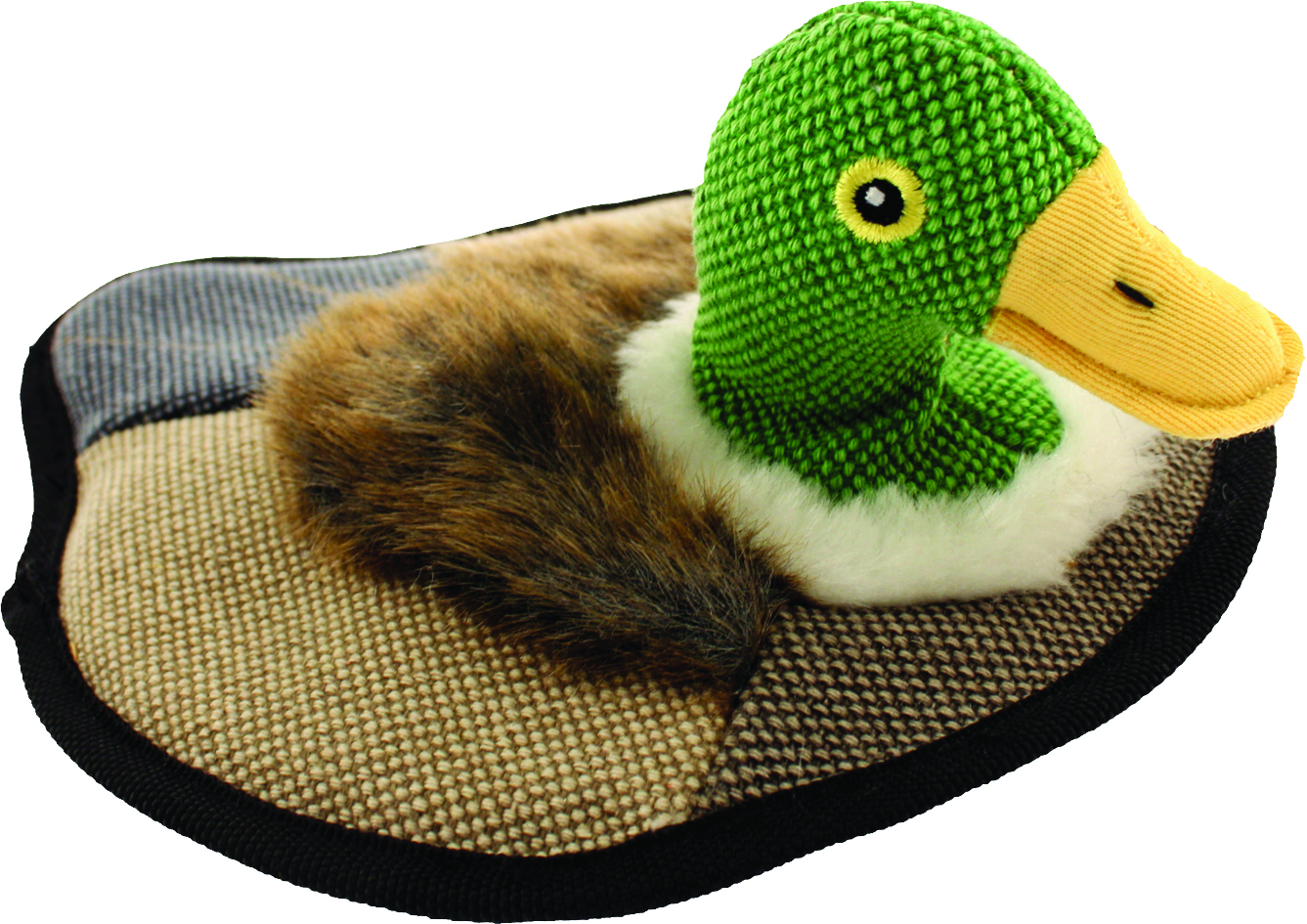 PETSPORT USA Tuff Squeaks Duck Decoy Dog Toy
