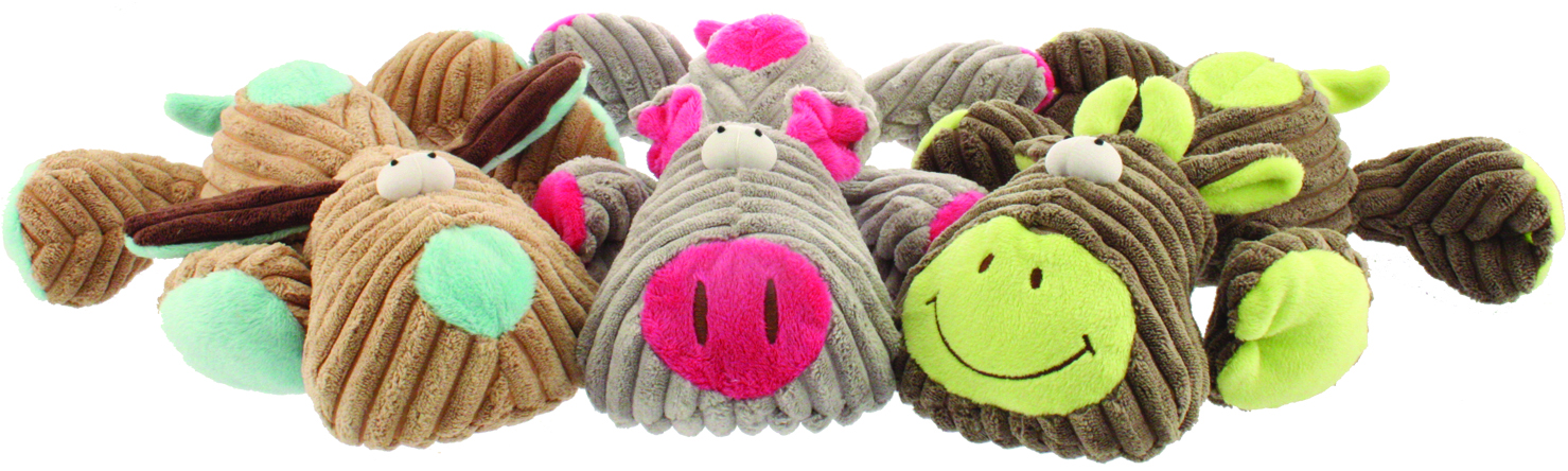 PETSPORT USA Tuff Squeaks Farm Critter Dog Toy