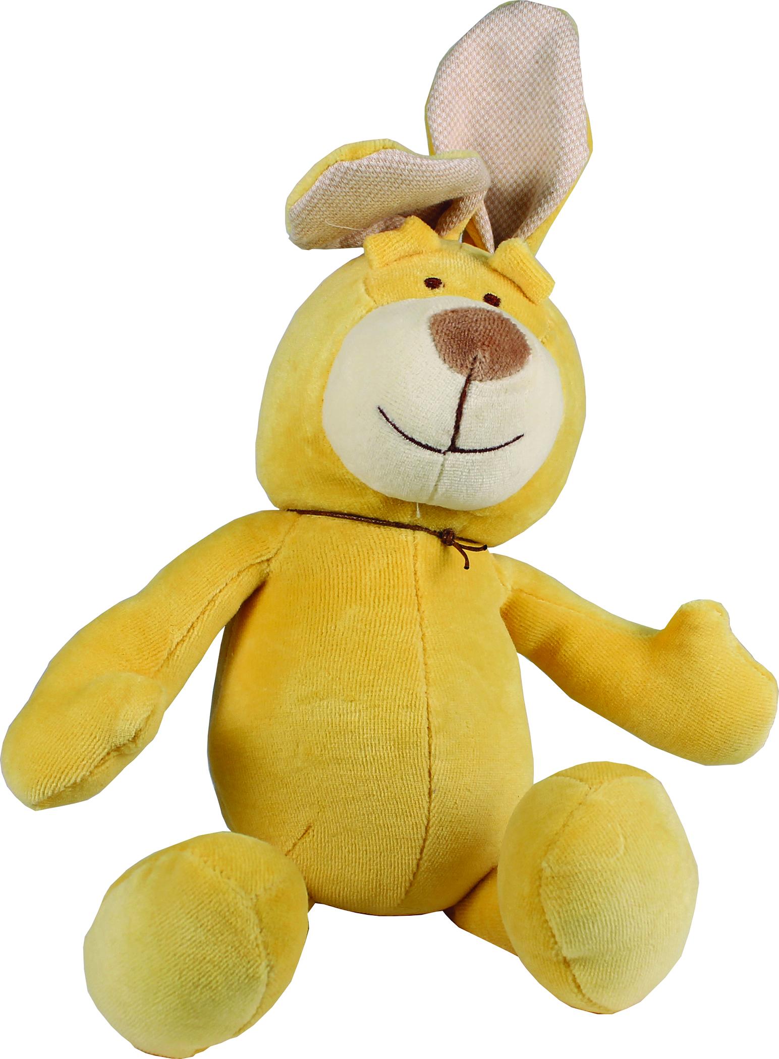 Simply Fido Brooklyn Design Lucy Bunny Squeaker Plush Dog Toy