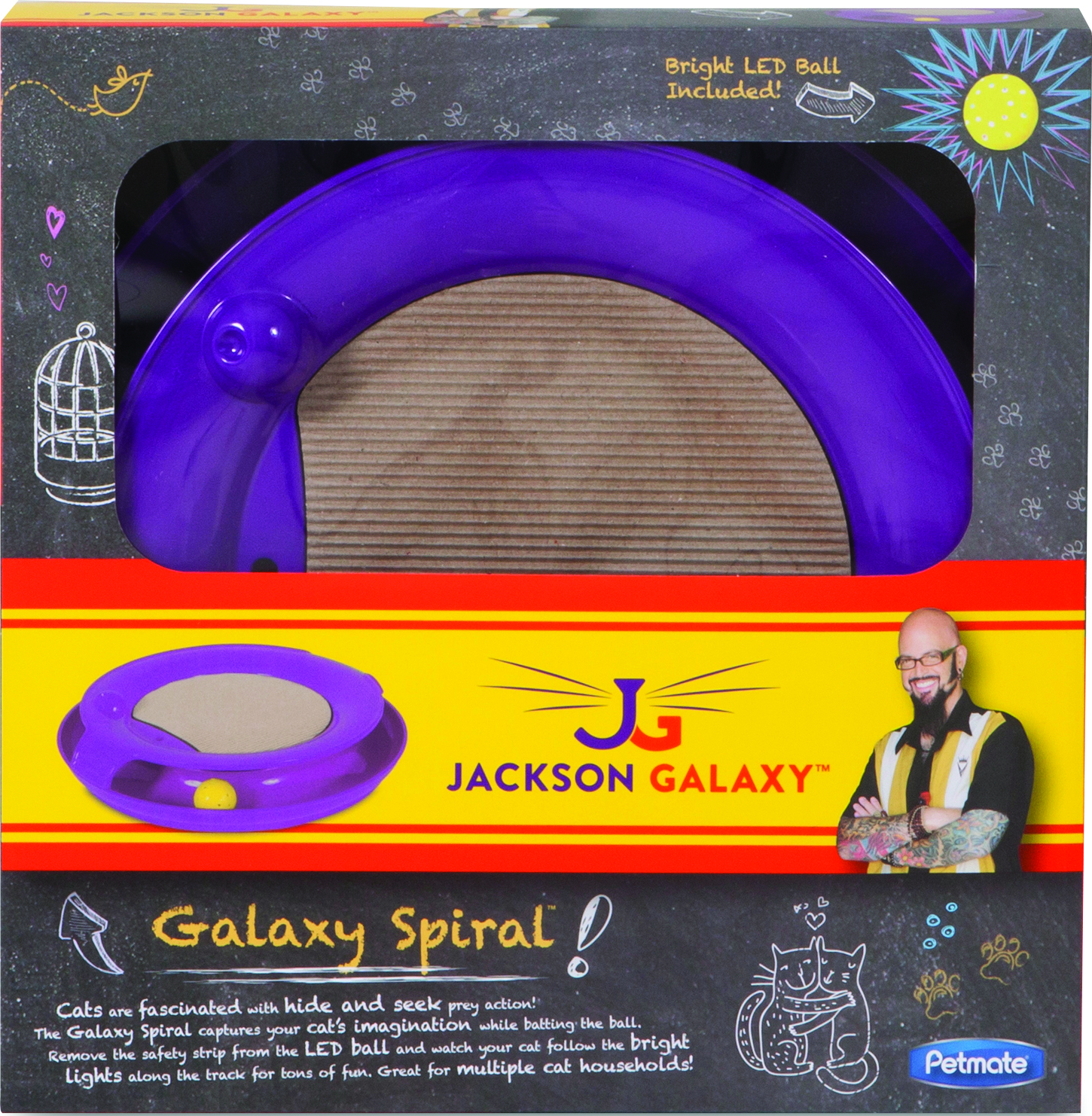 Petmate jackson galaxy spiral assorted dealtrend for Jackson galaxy