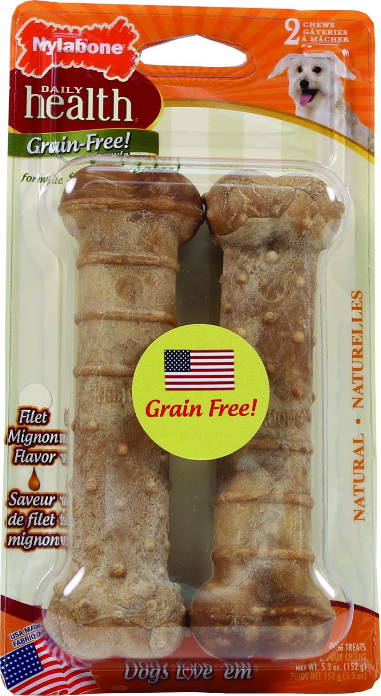 Nylabone Daily Health Grain Free Dog Chew - Filet Mignon