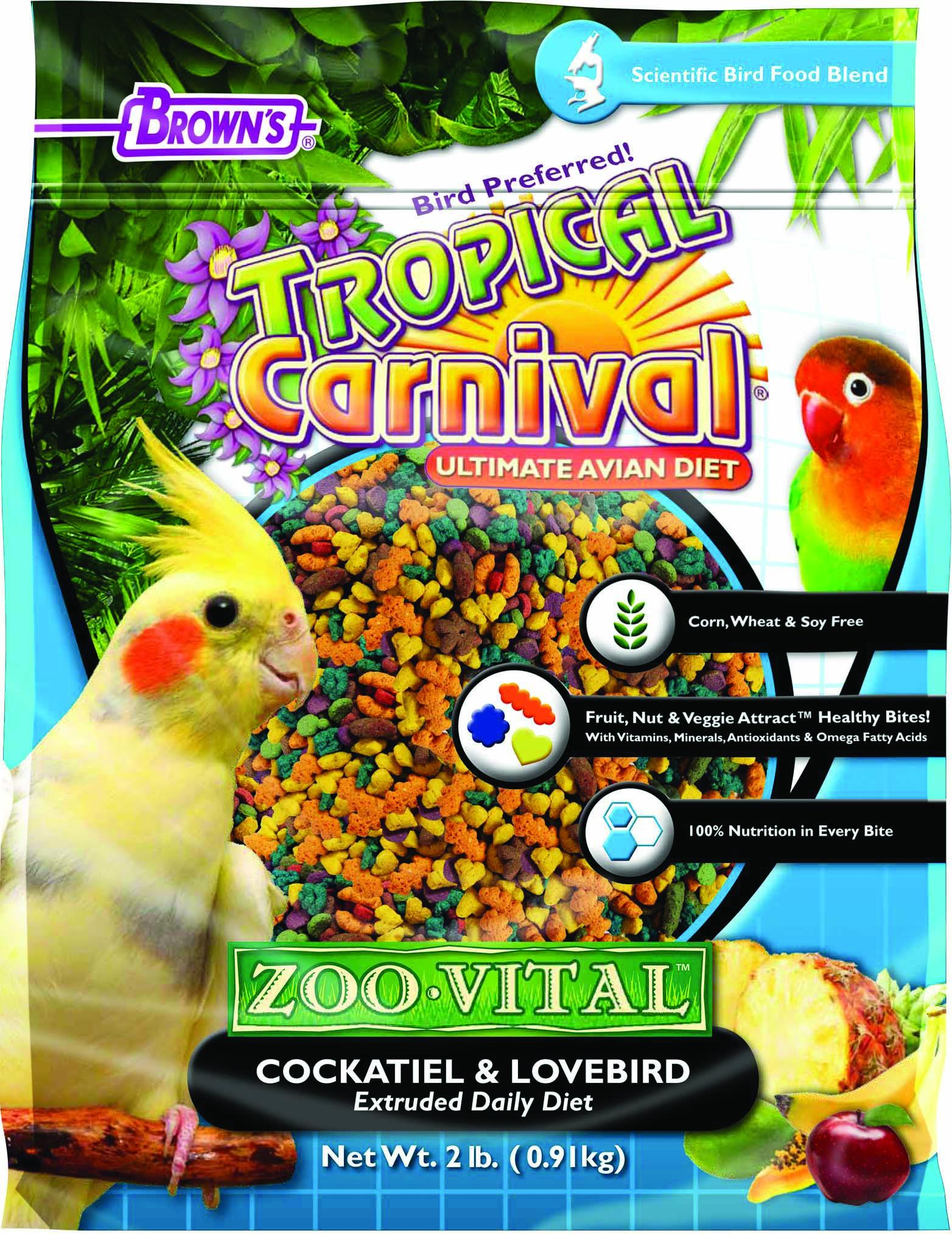 Tropical Carnival Zoo-Vital Cockatiel & Lovebird
