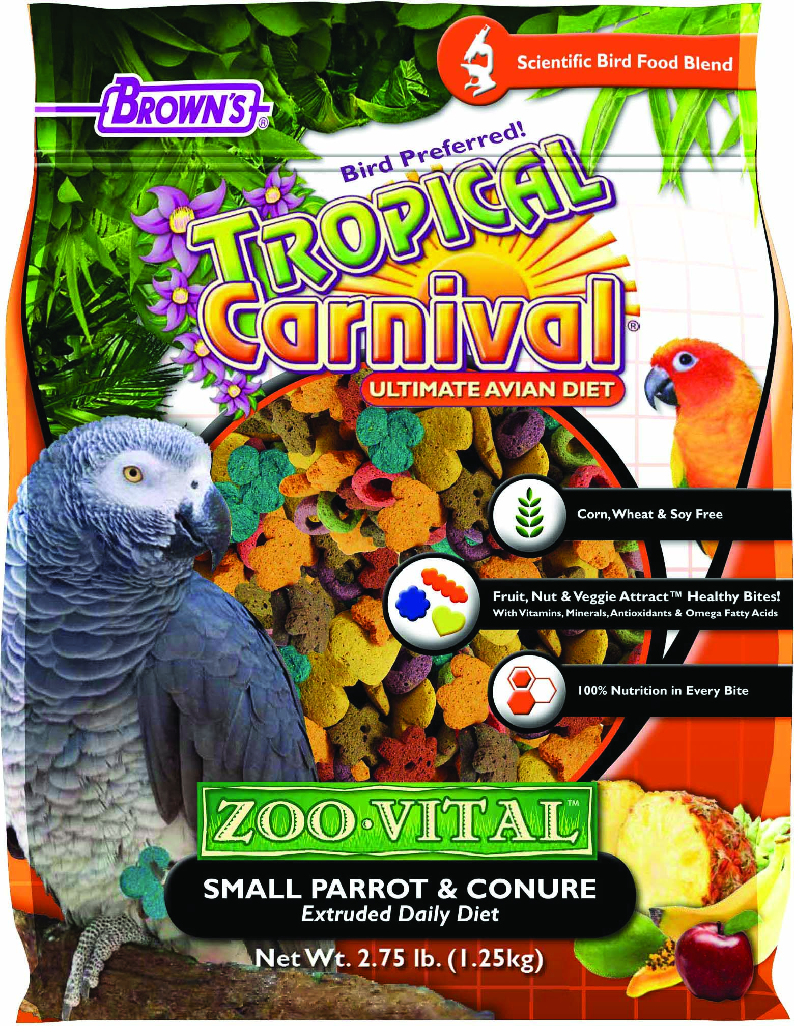 Tropical Carnival Zoo-Vital Small Parrot & Conure