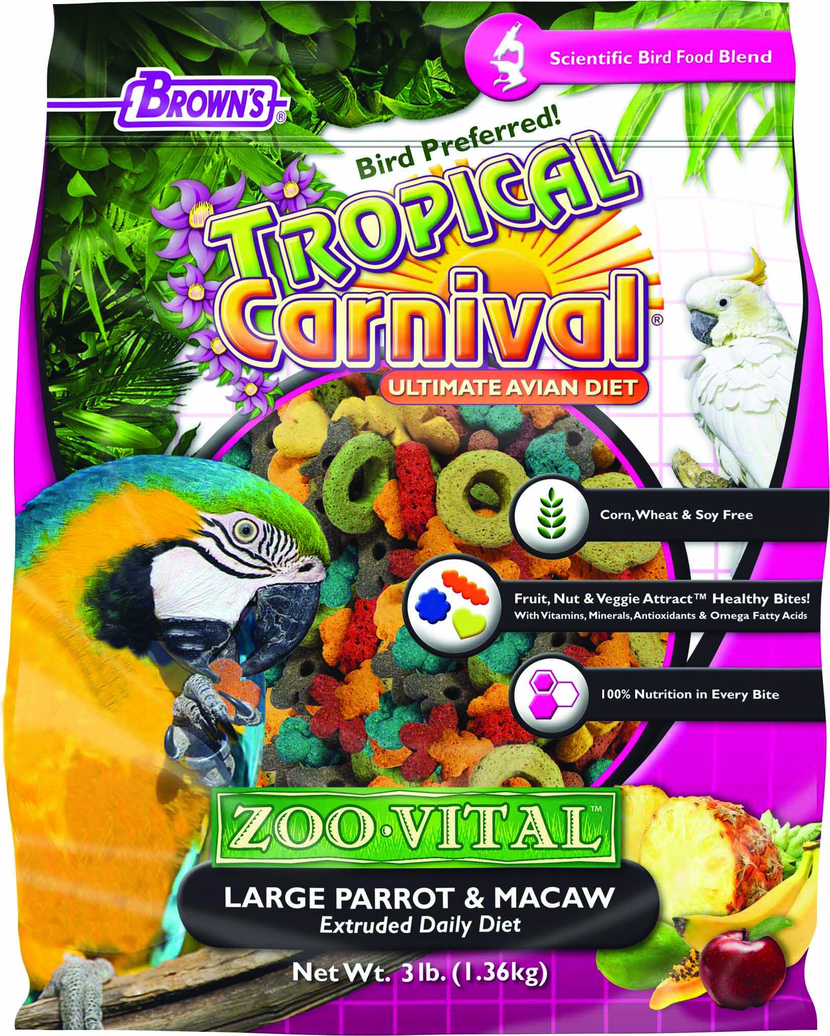 Tropical Carnival Zoo-Vital Parrot & Macaw Food