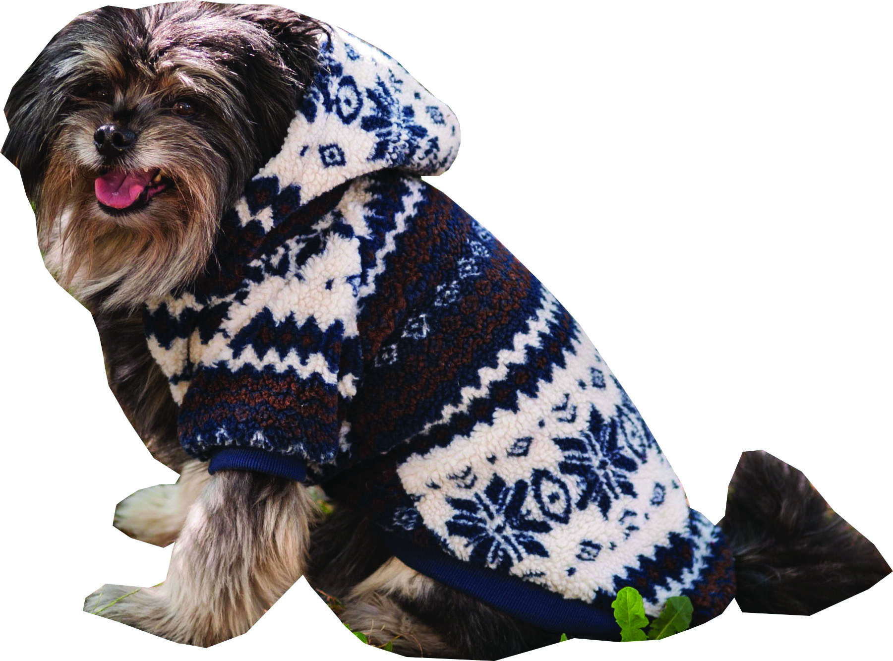 Sherpa Printed Dog Coat
