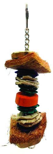 Java Wood Triple Decker Bird Toy