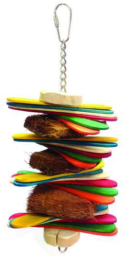 Java Wood Stick Stack Bird Toy