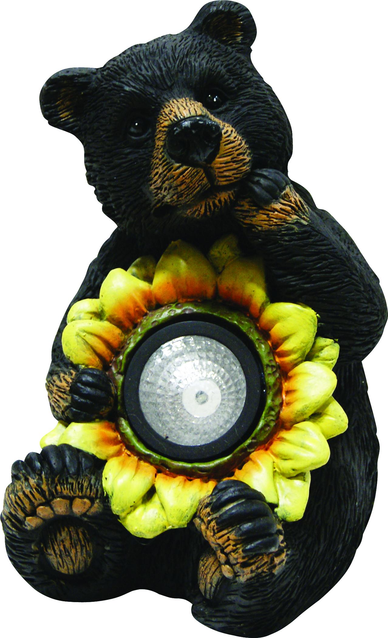 Black Bear With Solar Sunflower