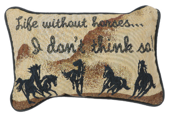 Gift Corral Life without Horses Throw Pillow