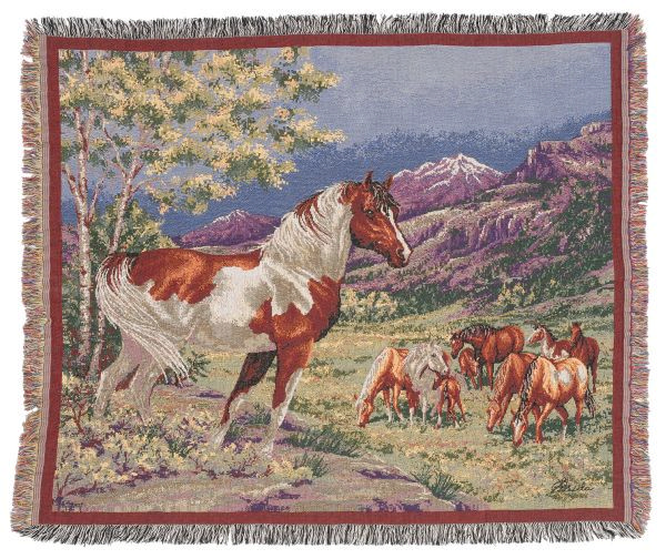 Gift Corral Mustangs Throw