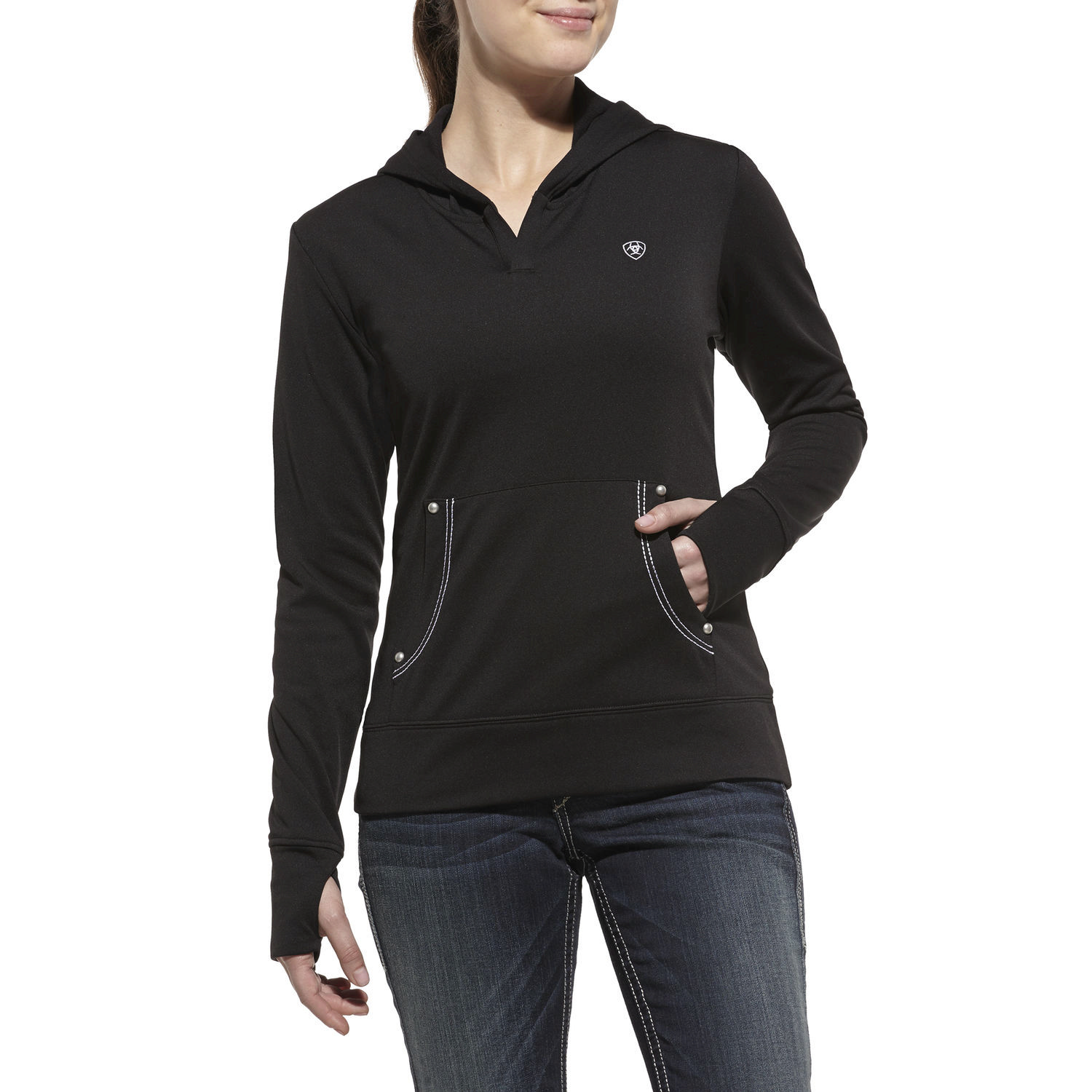 ARIAT Women's Tek Fleece Pullover Hoodie