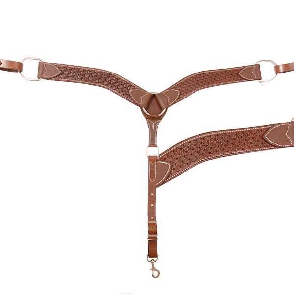 Cashel Weave Stamped 2'' Breast Collar