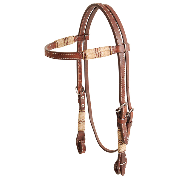 Cashel Rawhide Trimmed Browband Headstall