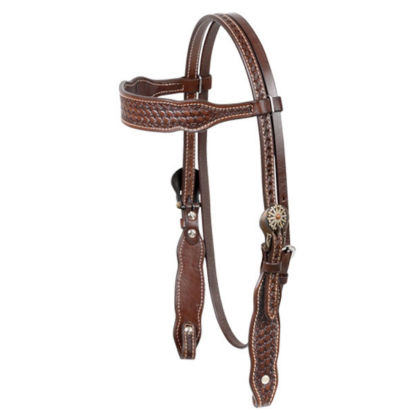 Cashel Basket Browband Headstall With Conchos