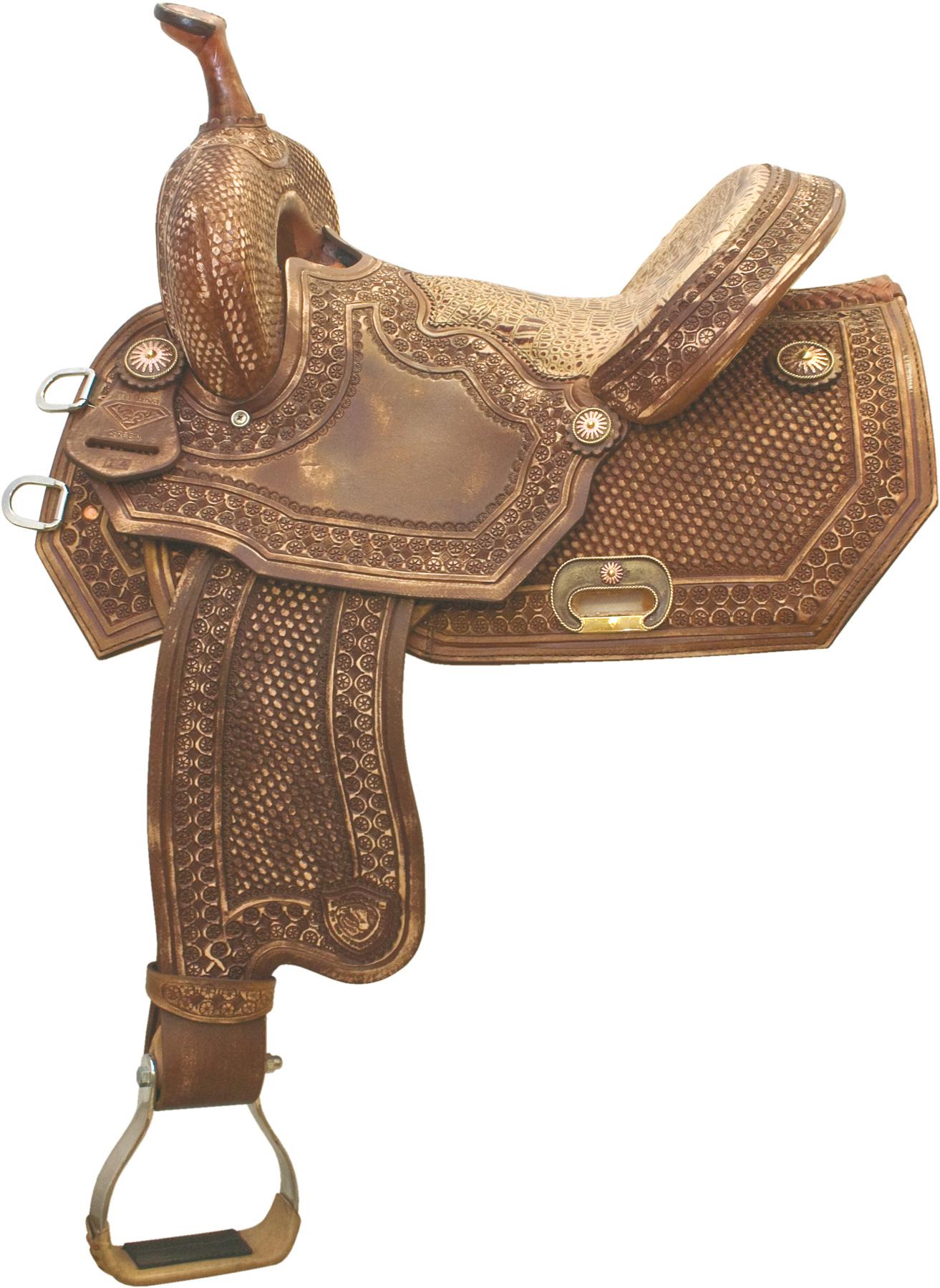 Tex Tan Old Tucson Barrel saddle