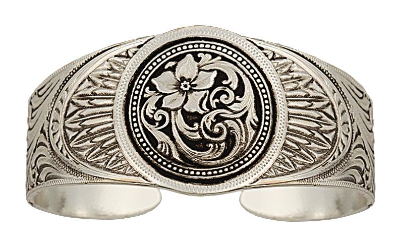Montana Silversmiths Antiqued Eagle'S Rosebed Cuff Bracelet