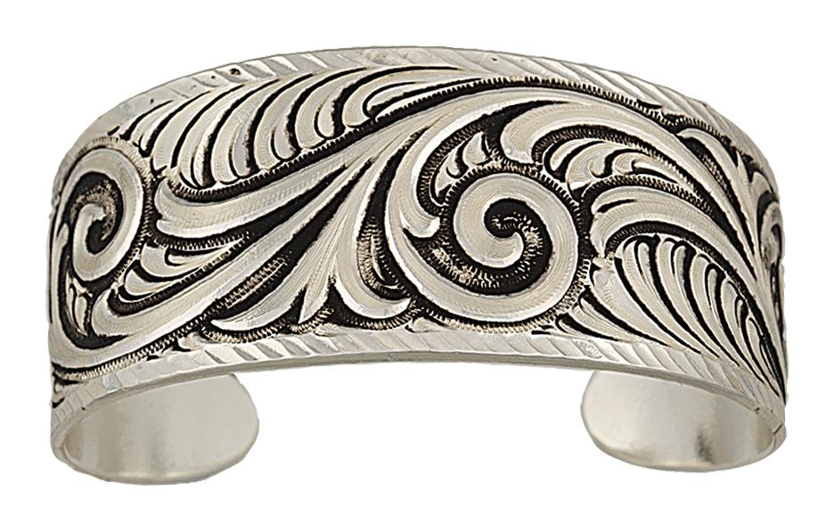 Montana Silversmiths Antiqued Wide Scroll Bracelet
