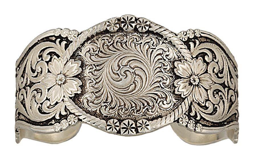 Montana Silversmiths Antiqued Wildflower Corsage Cuff Bracelet