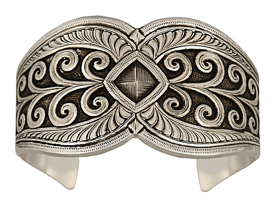 Montana Silversmiths Antiqued Nested Morning Glories Cuff Bracelet
