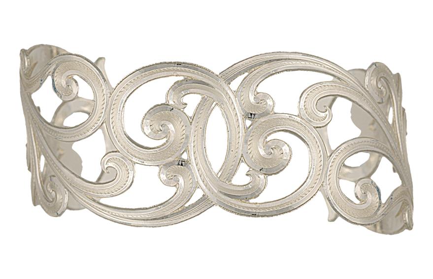 Montana Silversmiths Western Lace Scallop Cuff Bracelet