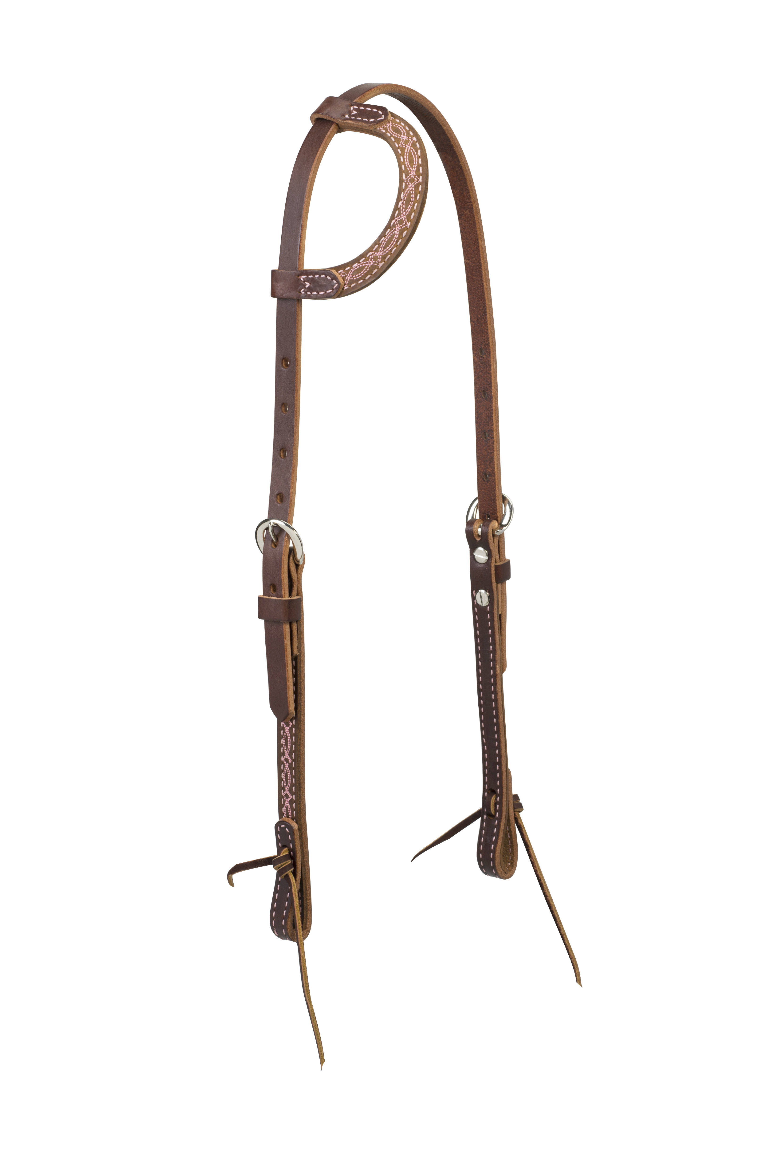 Weaver Harness Leather Boot Stitch Sliding Ear Headstall