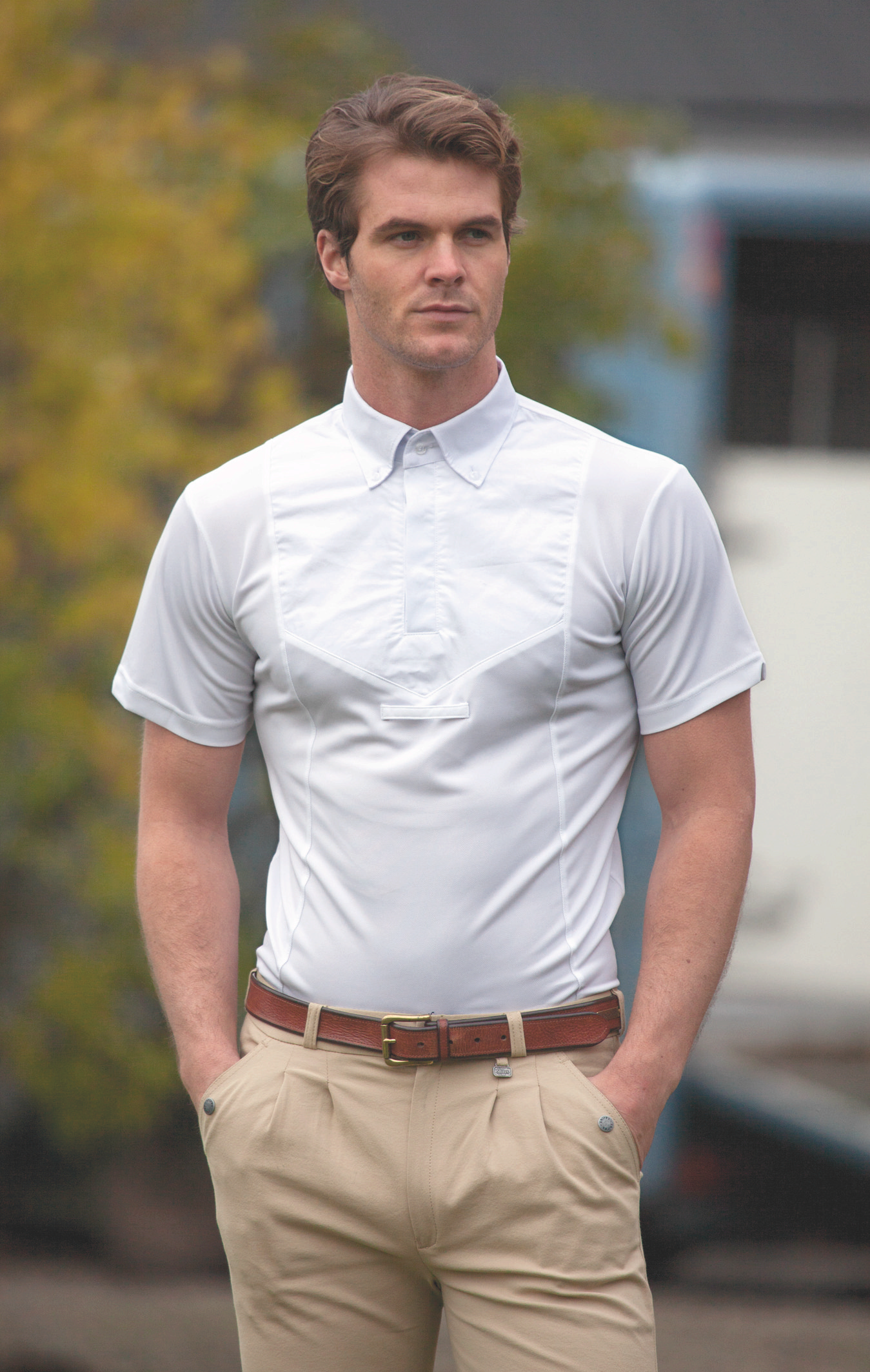 Shires Gents Short Sleeve Tie Shirt
