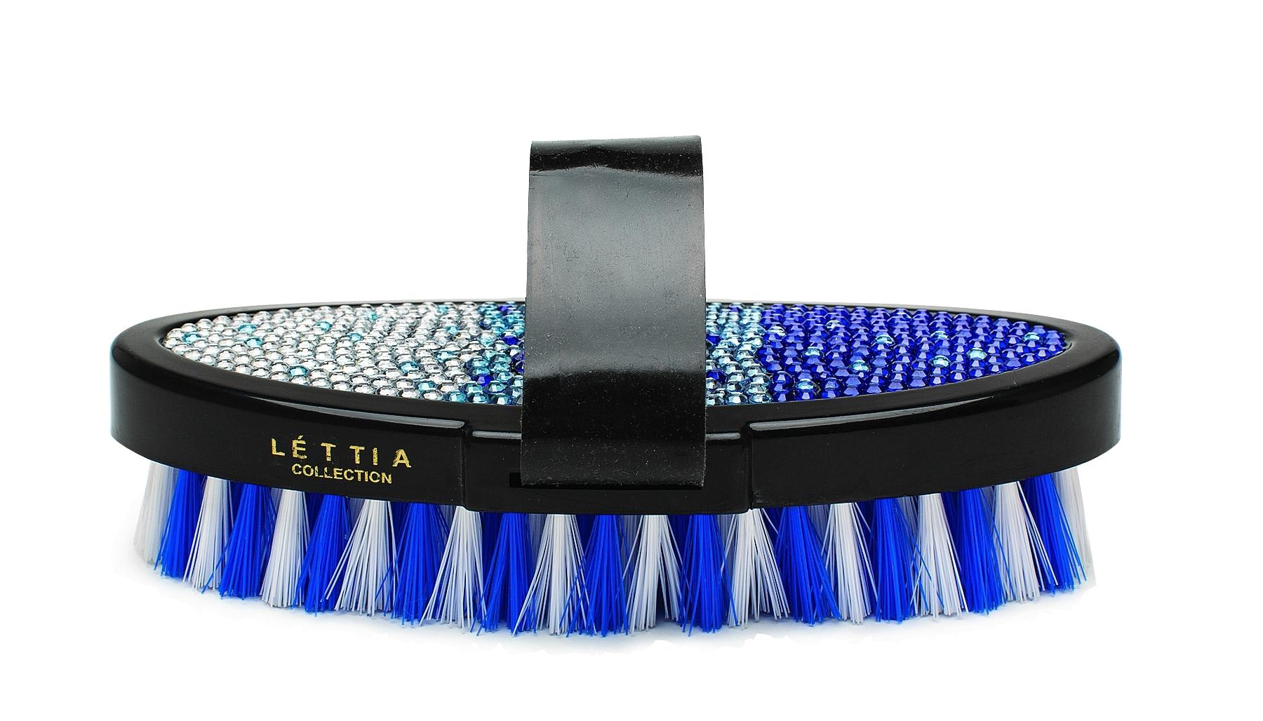 Lettia Blue Crystal Body Brush