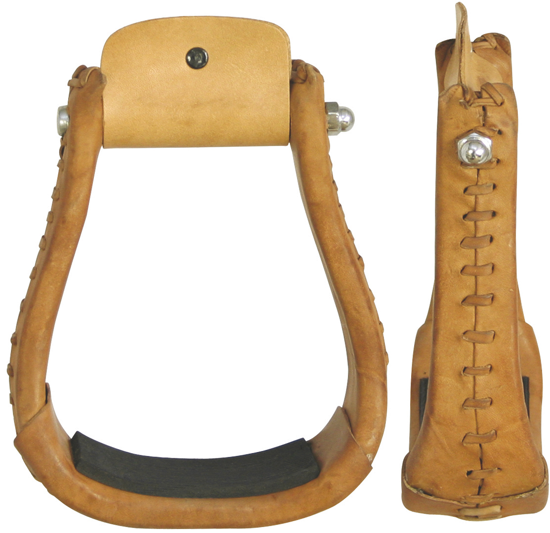 Billy Cook Leather Laced Bell Stirrups