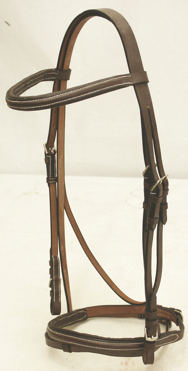 Abetta Padded English Bridle with Rubber Reins