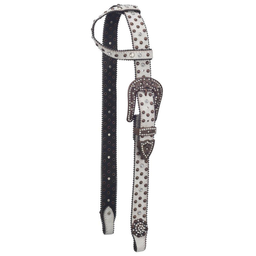 Silver Royal Arizona Belt Buckle Bling Single Ear Headstall
