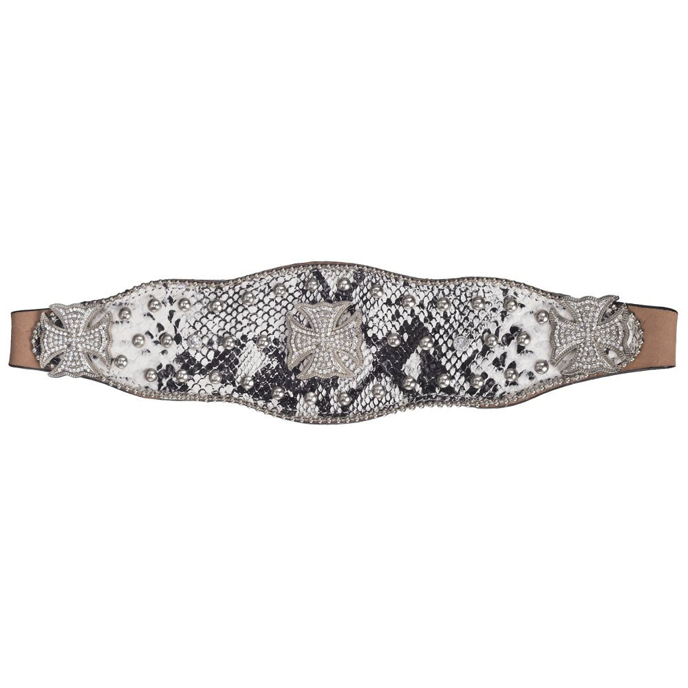 Silver Royal Greyson Belt Buckle Bling Bronc Noseband