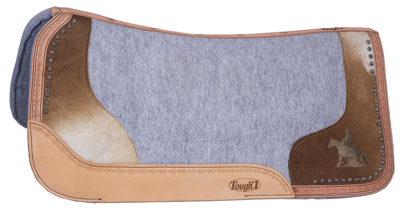 Tough-1 Motif Felt/Hair Contoured Saddle Pad - Reining Horse