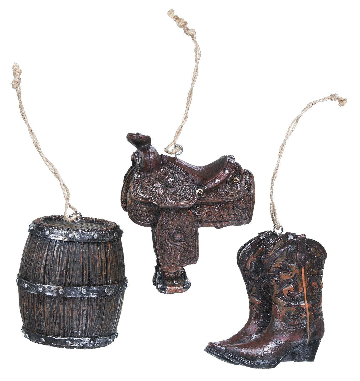 Saddle/Boots/Barrel Ornaments