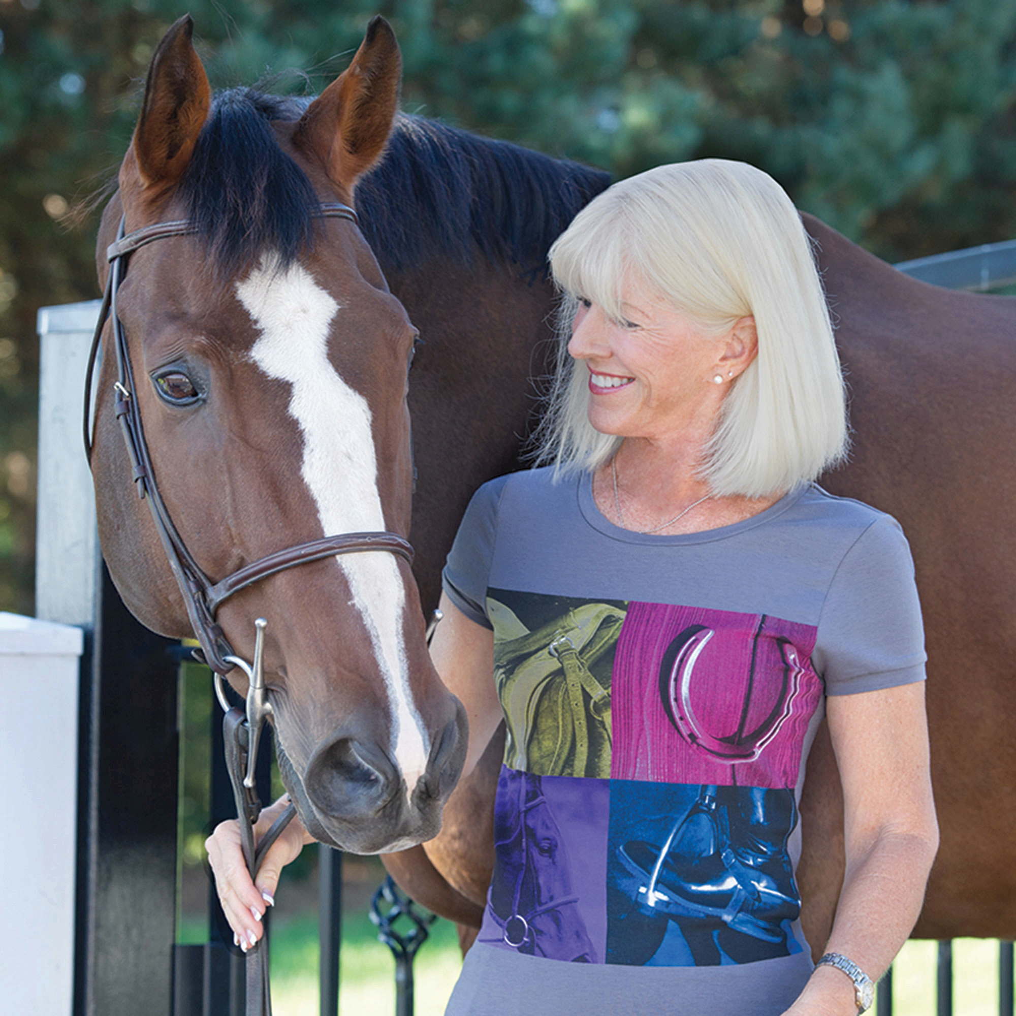 Irideon Equestrian Quad Tee - Ladies
