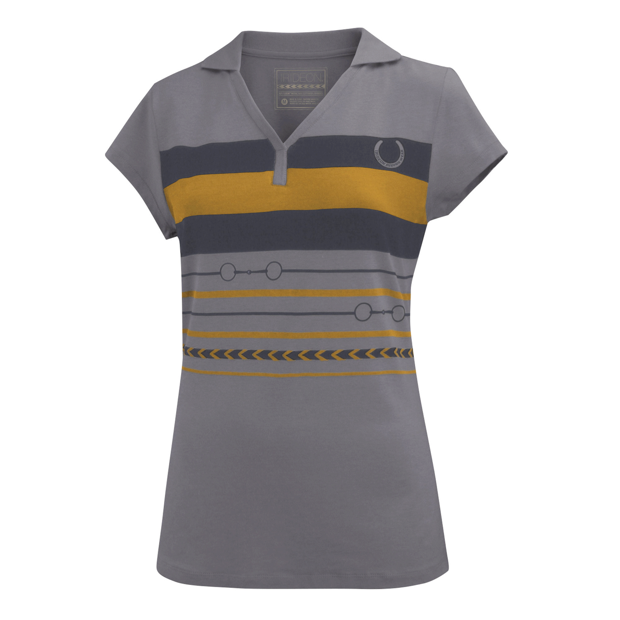 Irideon Ladies' Two-Bit Short Sleeve Polo
